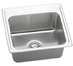 ELKAY 22X19X10 3H SNG BOWL SINK STAINLESS DLR2219103