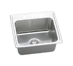 Elkay Gourmet Lustertone DLRQ2219 Topmount Single Bowl Stainless Steel Sink