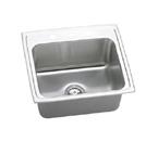 Elkay Gourmet Lustertone DLRQ2219 Topmount Single Bowl Stainless Steel Sink