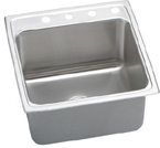 Elkay Lustertone 22x22x10 Single Bowl Stainless Steel Sink DLR2222