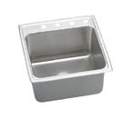 Elkay Gourmet Lustertone DLRQ2222 Topmount Single Bowl Stainless Steel Sink