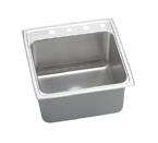 Elkay Gourmet Lustertone DLRQ2222 Topmount Single Bowl Stainless Steel Sink