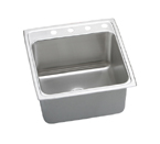Elkay Gourmet Lustertone DLRQ2022 Topmount Single Bowl Stainless Steel Sink
