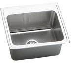 Elkay Lustertone 25x22x10 Stainless Steel Single Sink DLR2522