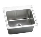 Elkay Gourmet Lustertone DLR2521 Single Bowl Stainless Steel Sink