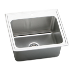 Elkay Gourmet Lustertone DLRQ2522 Topmount Single Bowl Stainless Steel Sink