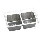 Elkay Gourmet Lustertone DLR2918 Topmount Double Bowl Stainless Steel Sink