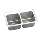 Elkay Gourmet Lustertone DLR2519 Topmount Double Bowl Stainless Steel Sink