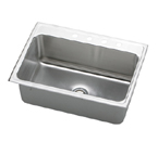 Elkay Gourmet Lustertone DLRQ3122 Topmount Single Bowl Stainless Steel Sink