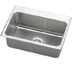Elkay Lustertone 31x22 Stainless Steel Single Sink DLR3122
