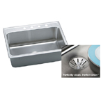 Elkay Gourmet Perfect Drain DLR312210PD Topmount Single Bowl Stainless Steel Sink