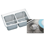 Elkay Gourmet Perfect Drain DLR332210PD Topmount Single Bowl Stainless Steel Sink