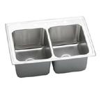 Elkay Gourmet Lustertone DLRQ3722 Topmount Double Bowl Stainless Steel Sink