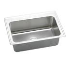 Elkay Gourmet Lustertone DLRS3322 Topmount Single Bowl Stainless Steel Sink