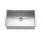 Dawn DSQ241609 Undermount Single Bowl Stainless Steel Sink with Zero Radius Corners