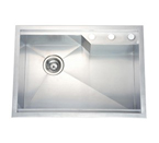 Dawn DSQ2417 Undermount Square Single Bowl Stainless Steel Sink