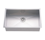 Dawn DSQ2816 Undermount Single Bowl Stainless Steel Sink with Zero Radius Corners