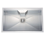 Dawn DSQ2817 Undermount Square Single Bowl Stainless Steel Sink