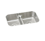 Elkay Gourmet EAQDUH3118 Undermount Double Bowl Stainless Steel Sink