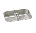 Elkay Gourmet EAQDUH3421 Undermount Double Bowl Stainless Steel Sink