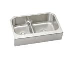 Elkay Gourmet EAQDUHF3523 Undermount Double Bowl Stainless Steel Sink