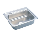 Elkay Gourmet Celebrity ECC2522 Topmount Single Bowl Stainless Steel Sink