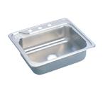 Elkay Gourmet Celebrity ECC2522 Topmount Single Bowl Stainless Steel Sink