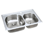 Elkay Harmony ECG3322 Topmount Double Bowl Stainless Steel Sink