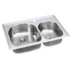 Elkay Harmony ECG3322 Topmount Double Bowl Stainless Steel Sink
