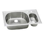 Elkay Harmony ECGR332210 Topmount Double Bowl Stainless Steel Sink