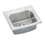 Elkay Echo ECTM2522102 Topmount Single Bowl Stainless Steel Sink