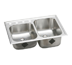 Elkay Elumina EG25010 Topmount Double Bowl Stainless Steel Sink