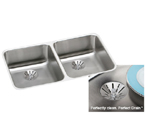 Elkay Perfect Drain ELUH3118PD Undermount Double Bowl Stainless Steel Sink