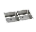 Elkay Lustertone ELUHAD3118 Undermount Double Bowl Stainless Steel Sink