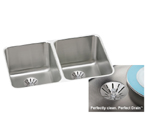 Elkay Perfect Drain ELUH3220PD Undermount Double Bowl Stainless Steel Sink