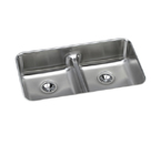 Elkay Gourmet ELUHAQD3218 Undermount Double Bowl Stainless Steel Sink