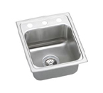 Elkay Lustertone 15x17 1 Hole Single Bowl Sink LR15171