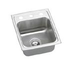 Elkay Lustertone 15x17 3 Hole Single Bowl Sink LR15173