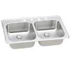 Elkay Celebrity GECR3321 Topmount Double Bowl Stainless Steel Sink