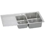 Elkay Gourmet Lustertone ILFGR4822 Topmount Double Bowl Stainless Steel Sink
