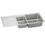 Elkay Gourmet Lustertone ILFGR5422 Topmount Double Bowl Stainless Steel Sink
