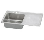 Elkay Gourmet Lustertone ILGR4322 Topmount Single Bowl Stainless Steel Sink