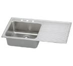 Elkay Gourmet Lustertone ILGR4322 Topmount Single Bowl Stainless Steel Sink