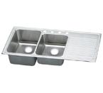 Elkay Gourmet Lustertone ILGR4822 Topmount Double Bowl Stainless Steel Sink