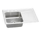 Elkay Gourmet Lustertone ILR3322 Topmount Single Bowl Stainless Steel Sink