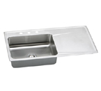 Elkay Gourmet Lustertone ILR4322 Topmount Single Bowl Stainless Steel Sink