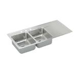 Elkay Gourmet Lustertone ILR4822L1 Topmount Double Bowl Stainless Steel Sink