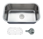 Kraus 31.5 Inch Undermount Single Bowl 16 Gauge Stainless Steel Kitchen Sink KBU14