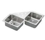 Elkay Lustertone LCCR3232 Topmount Double Bowl Stainless Steel Sink