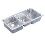 Elkay Lustertone LCRQ4322 Topmount Triple Bowl Stainless Steel Sink